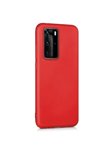 Microsonic Matte Silicone Huawei P40 Pro Kılıf Kırmızı